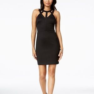 Macy's GUESS Caged Scuba Bodycon Dress
